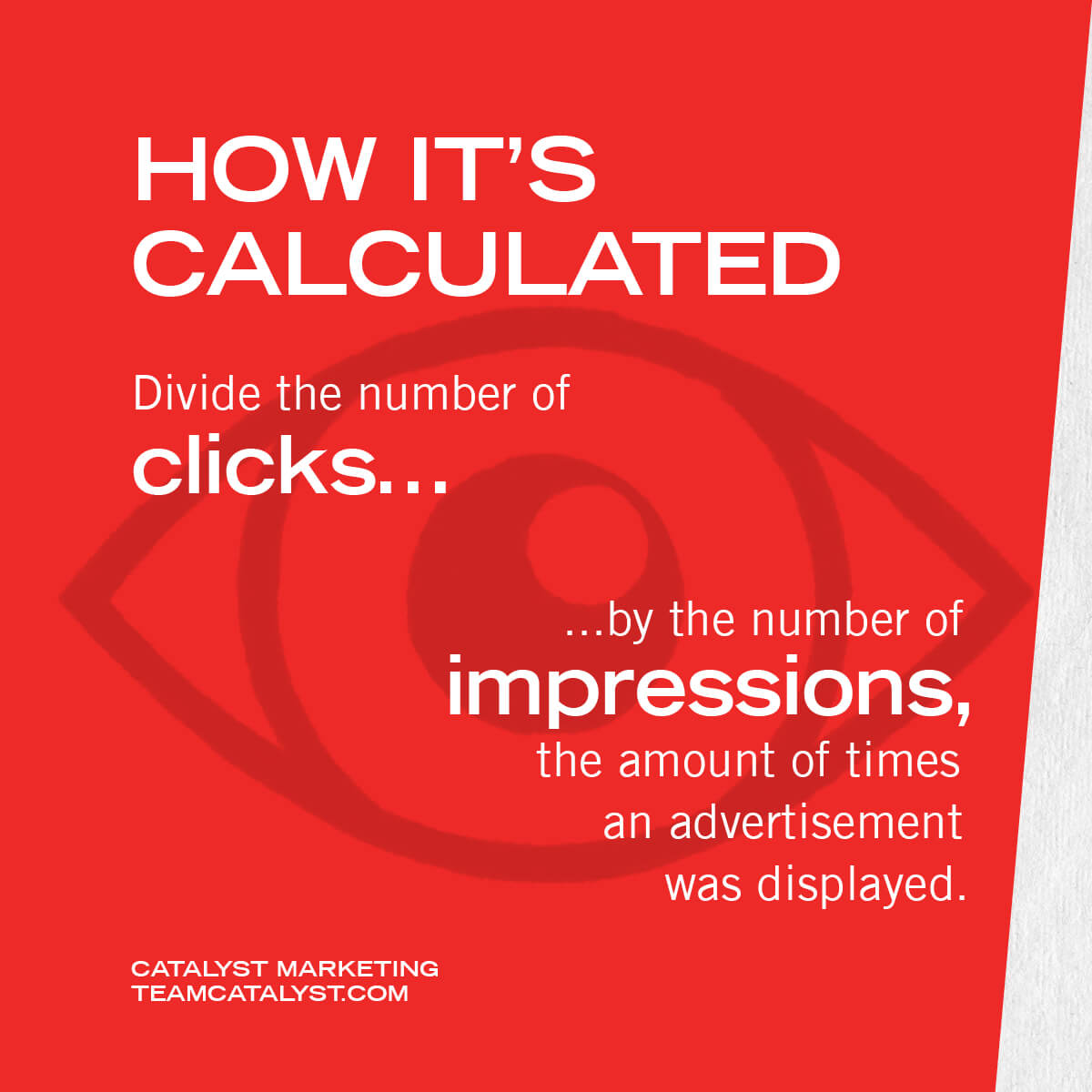 Divide the number of clicks by the number of impressions, the amount of times an advertisement was displayed.